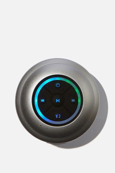 Wireless Led Shower Speaker, METALLIC CHARCOAL