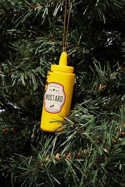 Resin Christmas Ornament, MUSTARD
