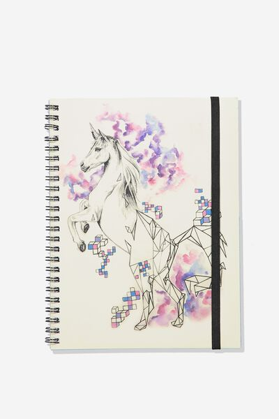 A5 Spinout Notebook - 120 Pages, UNICORN GEO