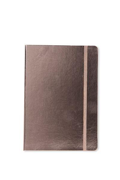 A5 Buffalo Journal, ROSE GOLD METALLIC