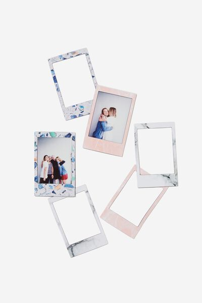 Small Instant Photo Magnet Pack, TERRAZZO