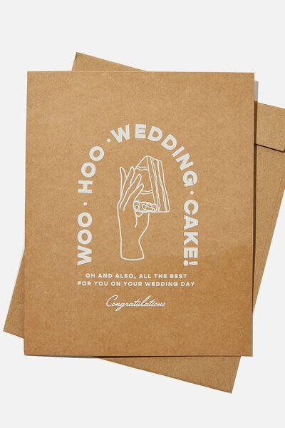 Wedding Card, WOO HOO WEDDING CAKE ILLO