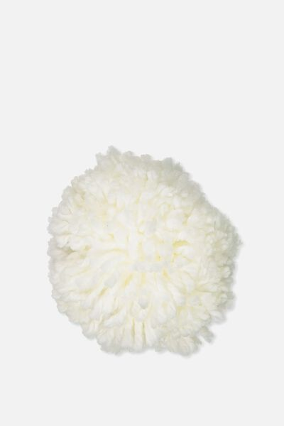 Personalised Pom Pom, WHITE KNIT