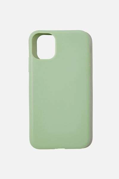 Recycled Phone Case iPhone 11, MINT LEAF