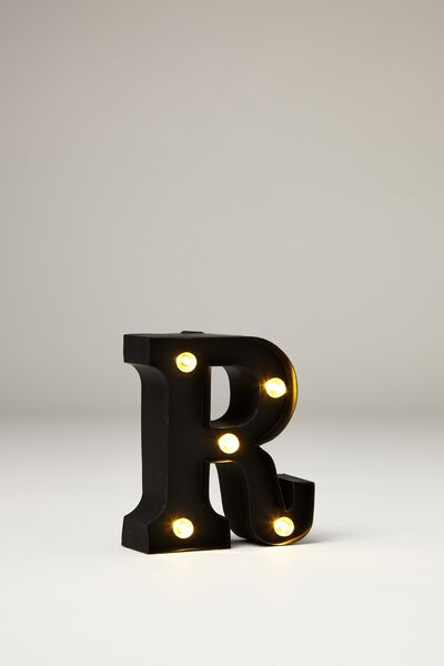 Mini Marquee Letter Lights 10cm, BLACK RUBBER R