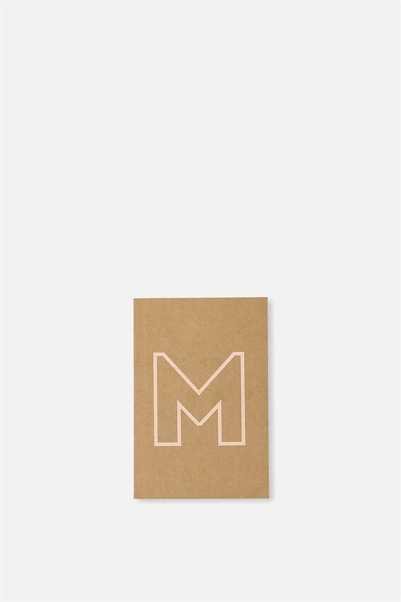 Initial Notebook Set, M - PEACH