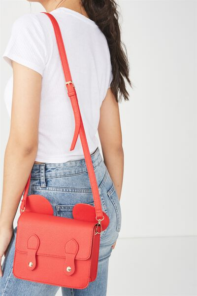 Mini Buffalo Satchel, LCN RED MICKEY EARS