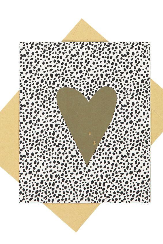Nice Birthday Card, GOLD HEART