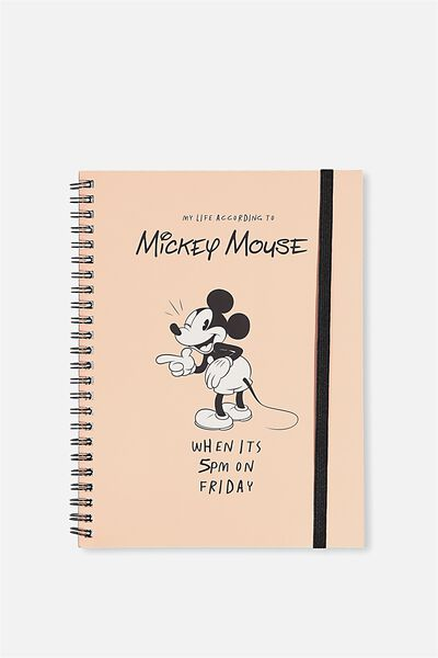 A5 Spinout Notebook - 120 Pages, LCN MICKEY 5PM FRIDAY