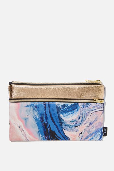 Archer Pencil Case, MOODY MARBLE
