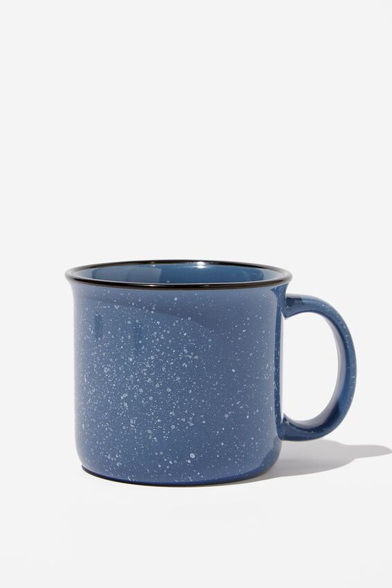Large Ceramel Mug, NAVY CARPE DIEM