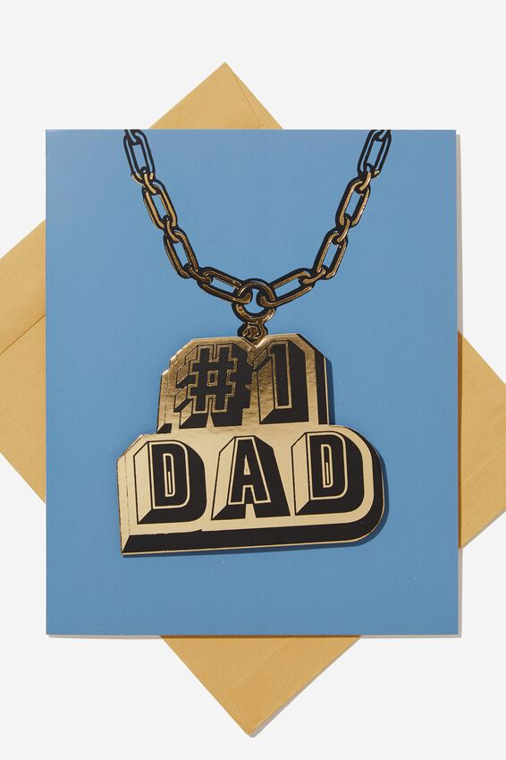 Premium Fathers Day Card, #1 DAD
