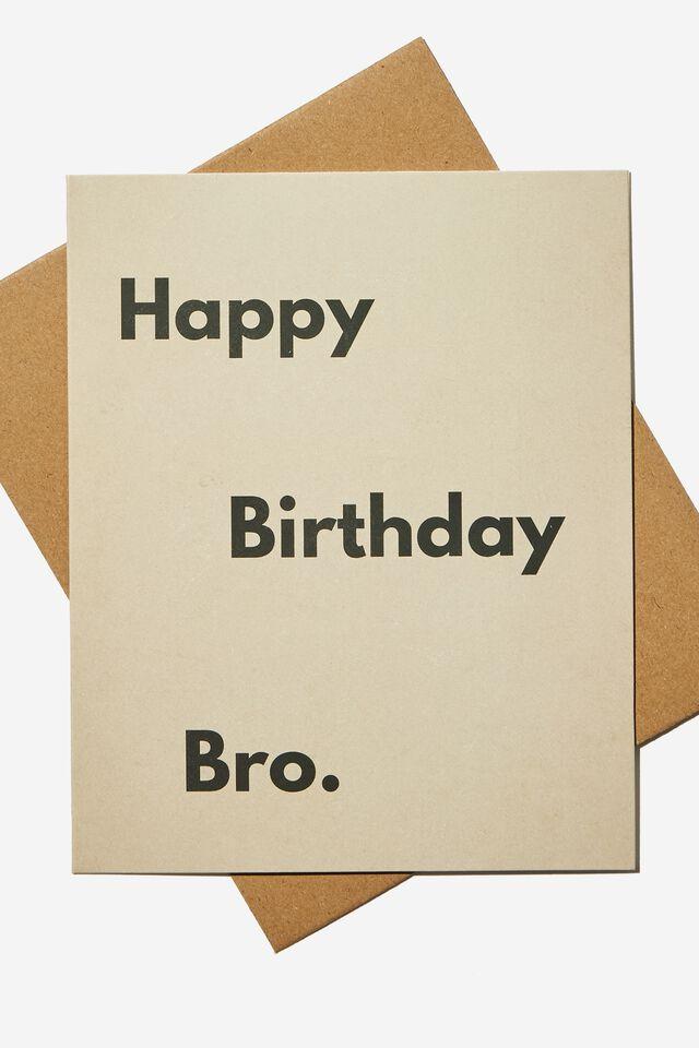 Funny Birthday Card, RG NZ HAPPY BIRTHDAY BRO SAND