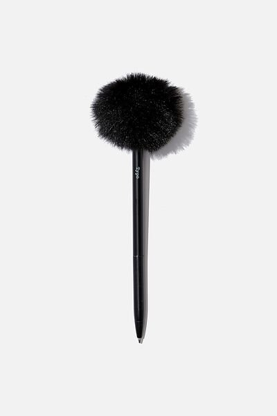 Fluffy Pen, BLACK