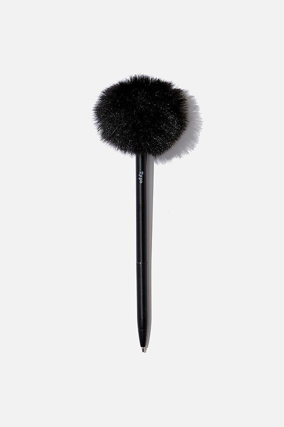 Fluffy Pen, BLACK