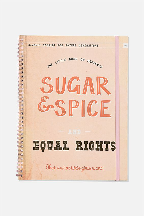 A4 Spinout Notebook Recycled, SUGAR   SPICE
