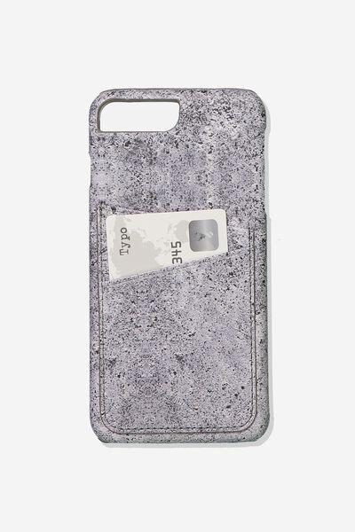 The Cardholder Phone Cover 6,7,8 Plus, CONCRETE