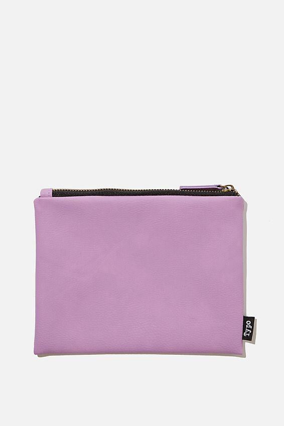 Pu Campus Pencil Case, LILAC