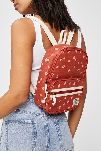 Nano Backpack, CHARLIE FLORAL RUST