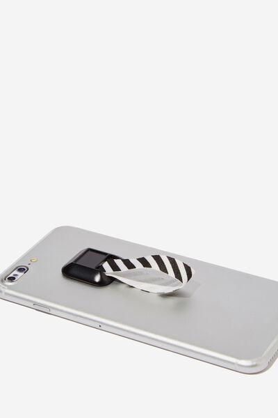 Phone Grip, BLACK & WHITE STRIPE