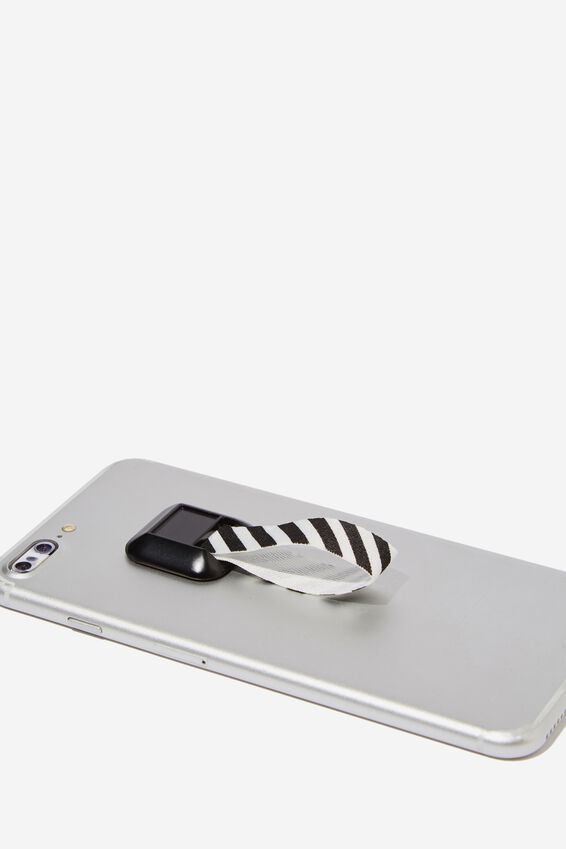 Phone Grip, BLACK & WHITE STRIPE