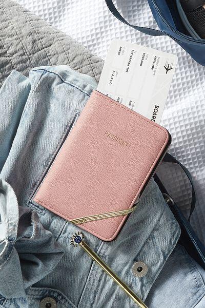 Rfid Passport Holder, DUSTY PINK
