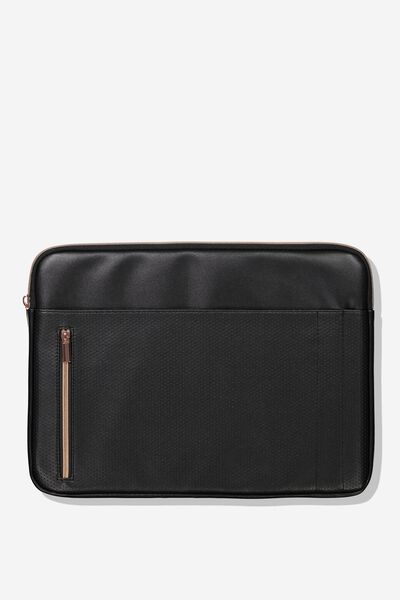 """Take Charge Laptop Cover 15"""", BLACK LUXE"""