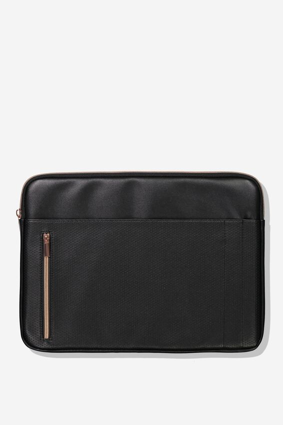 "Take Charge Laptop Cover 15"", BLACK LUXE"