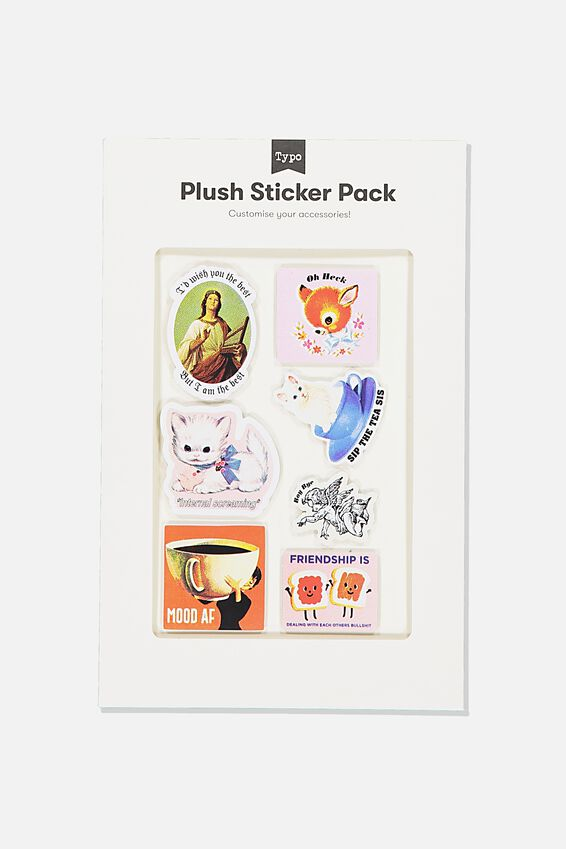 Plush Sticker Pack, SIP THE TEA SIS