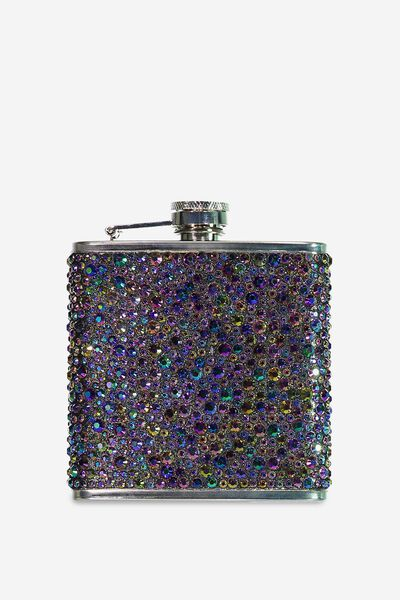 Novelty Flask, GLITTER GEM!