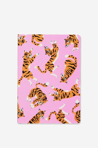 """A5 Fashion Dot Journal (8.27"""" x 5.83""""), PINK TIGER"""