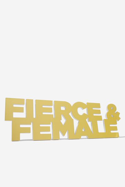 Acrylic Wall Art, FIERCE & FEMALE