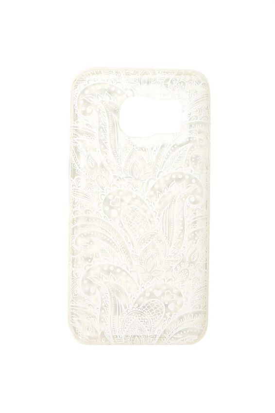 Phone Cover S7, WHITE LACE