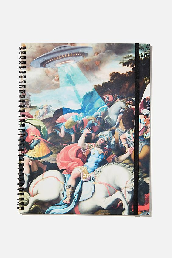 A4 Spinout Notebook Recycled, UFO CLASSIC ART