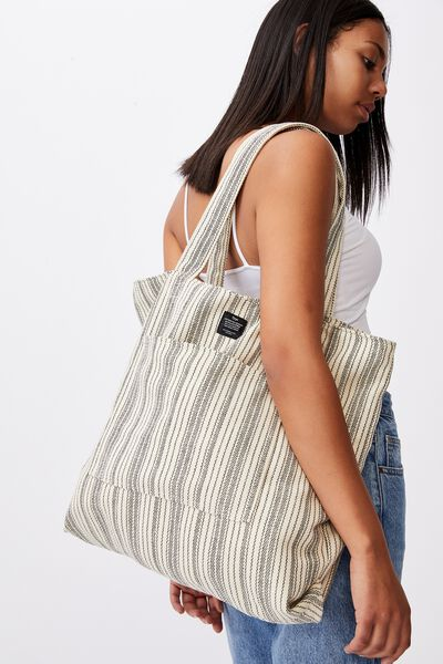 The Daily Tote Bag, WOVEN STRIPE