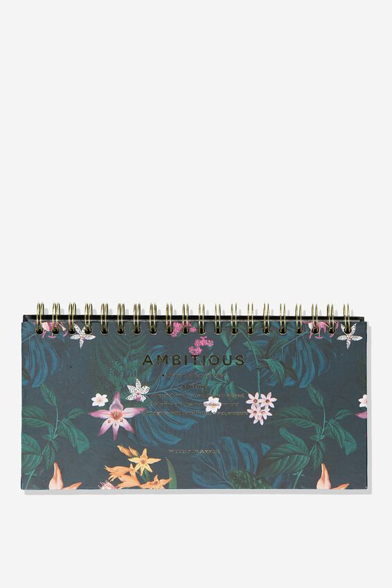 Desk Planner, JUNGLE FLORAL AMBITIOUS