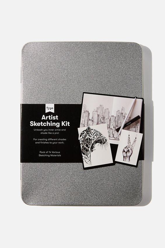 Sketch It Tin, GREY & BLACK