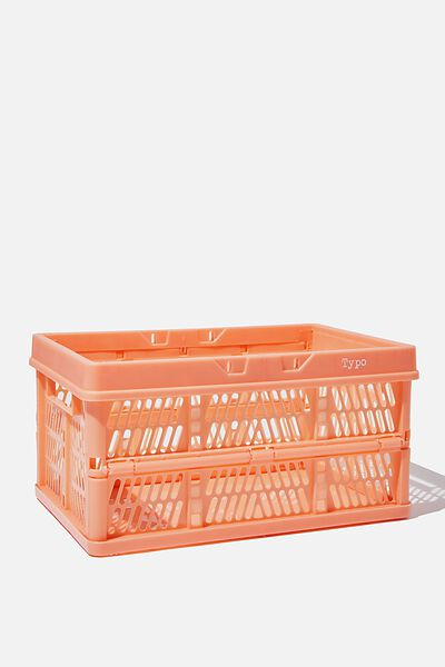 Midi Foldable Storage Crate, PEACH