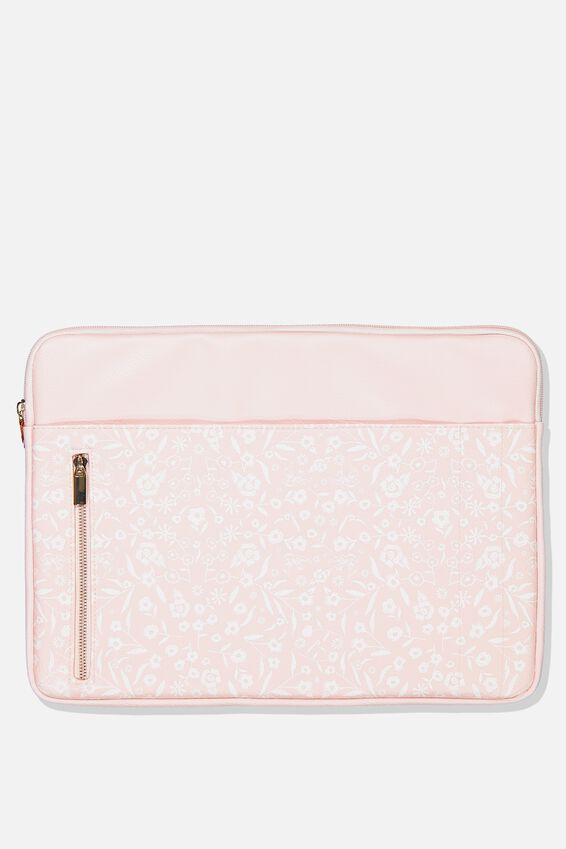 Take Charge 15 Inch Laptop Cover, BLUSH LACE