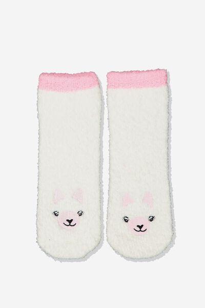 Slipper Sock, LLAMA FACE