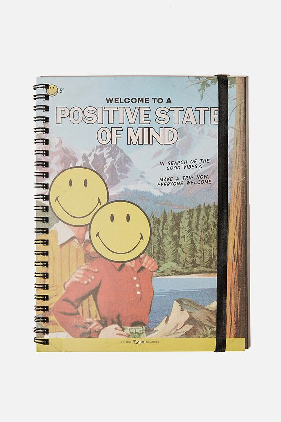 A5 Spinout Notebook Recycled, LCN SMI VINTAGE POSITIVE STATE OF MIND