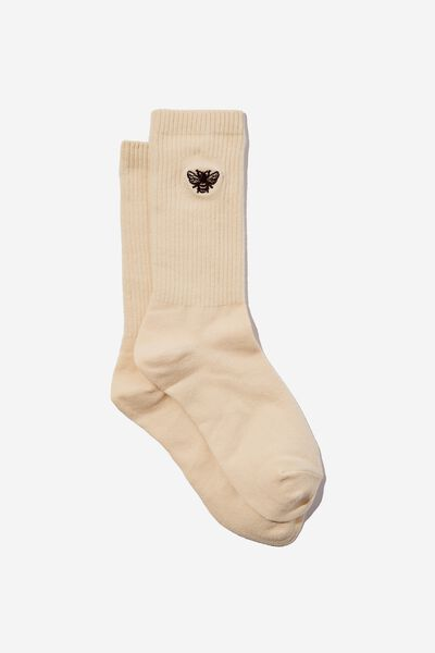 Socks, BEE EMBROIDERY