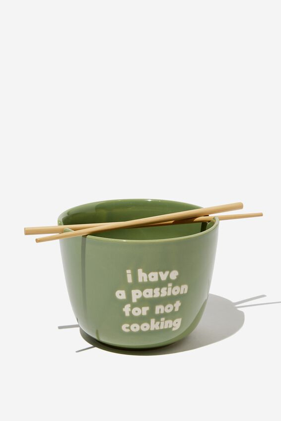 Novelty Noodle Bowl, PASSION NOT COOKING