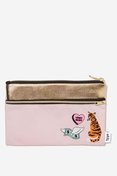 Archer Pencil Case, TIGER BADGE