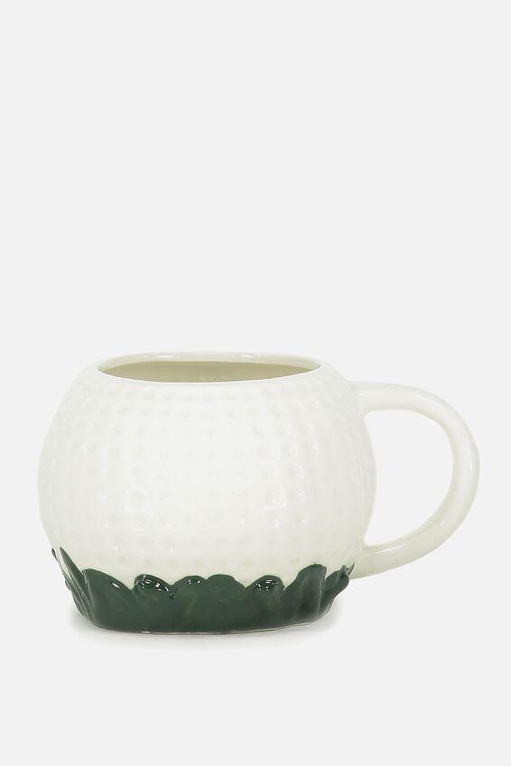 Novelty Shaped Mug, GOLF BALL