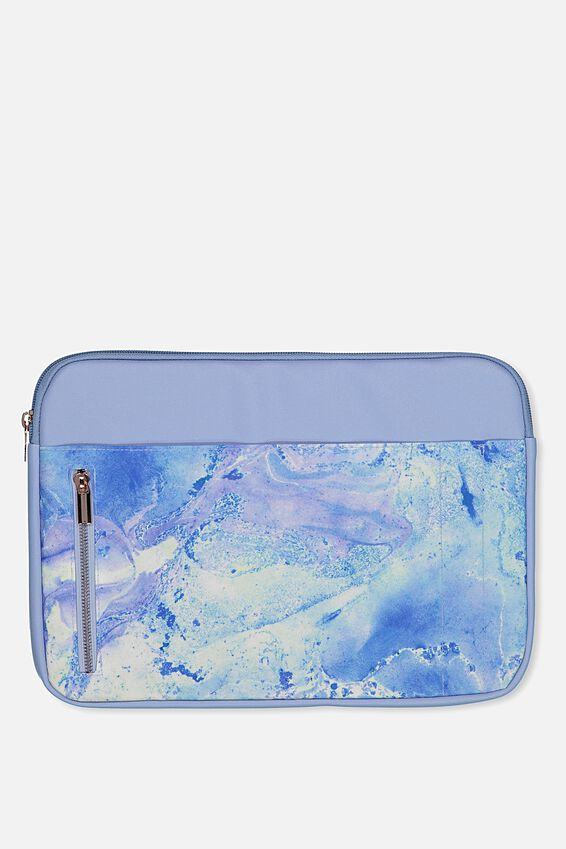 """Take Charge Laptop Cover 13"""", BLUE MARBLE"""