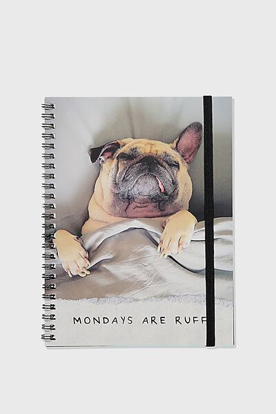 A5 Spinout Notebook Recycled, MONDAYS