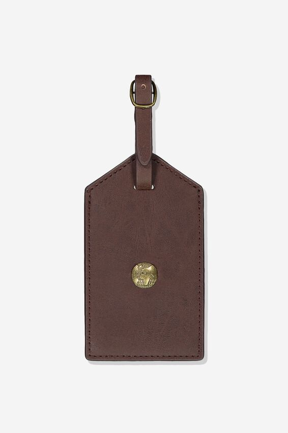 Luggage Tag, RICH TAN GLOBE