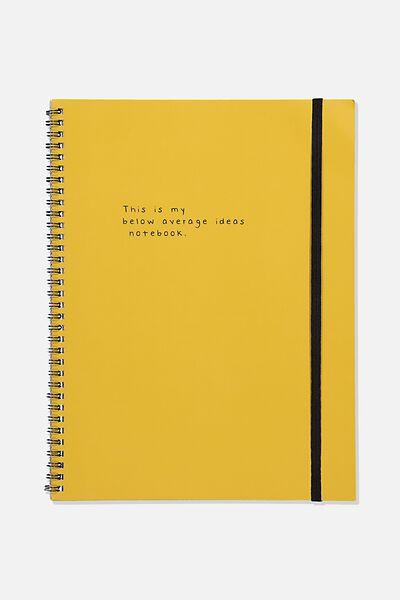 College Ruled Spinout Notebook V, BELOW AVERAGE