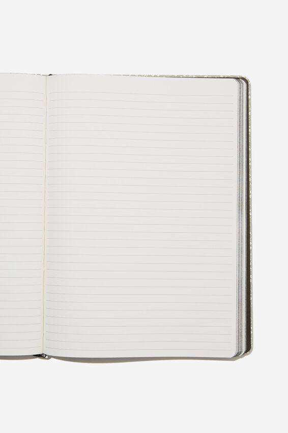 "A4 Buffalo Journal (8.2"" x 11.6""), COOL GREY MEADOW DITSY"